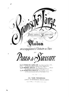 Introduction and Caprice Jota, Op.41: Score for two performers, Solo part by Pablo de Sarasate