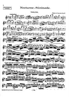 Nocturne-Serenade, Op.45: Solo part by Pablo de Sarasate