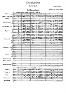 Suite I: Full score by Georges Bizet