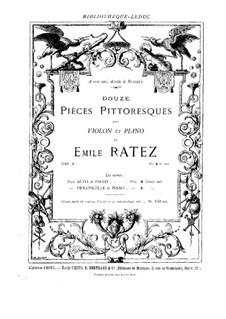 Douze pièces pittoresques, Op.8: Score by Emile Pierre Ratez