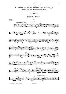 Douze pièces pittoresques, Op.8: Solo part by Emile Pierre Ratez
