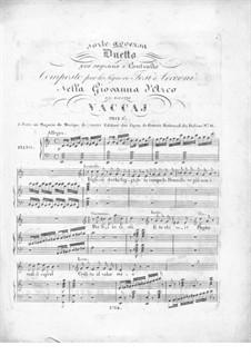 Giovanna d'Arco. Duet 'Sorte avversa': Giovanna d'Arco. Duet 'Sorte avversa' by Nicola Vaccai