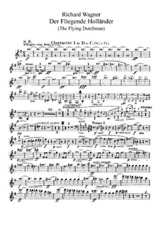 Complete Opera: Clarinets parts by Richard Wagner