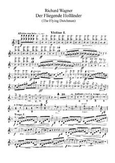 Complete Opera: Violins I part by Richard Wagner