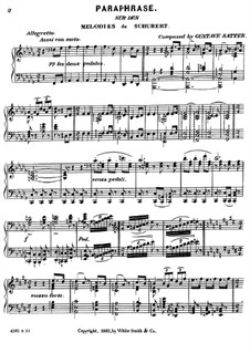Paraphrase on Themes by Schubert: Paraphrase on Themes by Schubert by Gustave Satter