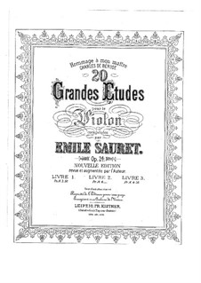 Twenty Grands Etudes for Violin, Op.24: Twenty Grands Etudes for Violin by Émile Sauret