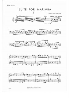 Suite for Marimba: Suite for Marimba by Nancy Van de Vate