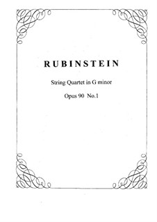 Quartet for Strings No.7 in D Minor, Op.90 No.1: Parts by Anton Rubinstein