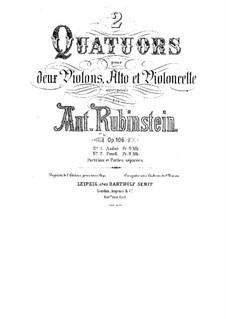 Quartet for Strings No.10 in F Minor, Op.106 No.2: Parts by Anton Rubinstein