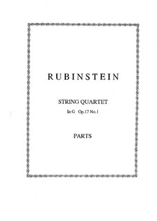 Quartet for Strings No.1 in G Major, Op.17 No.1: Parts by Anton Rubinstein