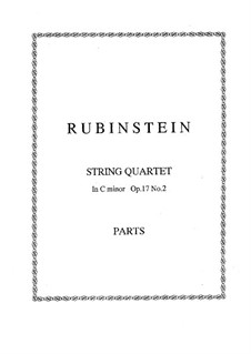 Quartet for Strings No.2 in G Minor, Op.17 No.2: Parts by Anton Rubinstein