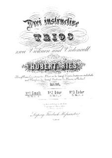 Three String Trios, Op.25: Trio No.1 in G Minor by Hubert Ries