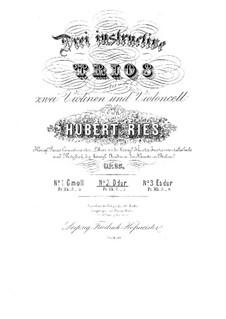 Three String Trios, Op.25: Trio No.2 in D Major by Hubert Ries