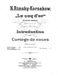 The Golden Cockerel. Opera: Introduction and Wedding Procession by Nikolai Rimsky-Korsakov