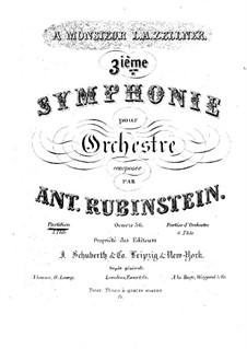 Symphony No.3 in A Major, Op.56: Symphony No.3 in A Major by Anton Rubinstein