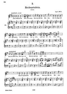 Heidenröslein (Little Hedge Rose), D.257 Op.3 No.3: G Major by Franz Schubert