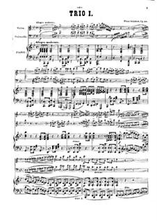 Piano Trio No.1 in B Flat Major, D.898 Op.99: Full score by Franz Schubert