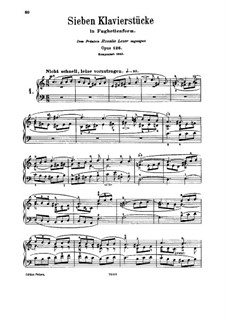 Seven Pieces in Fughetta Form, Op.126: For piano by Robert Schumann