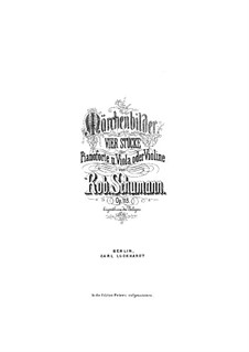 Märchenbilder (Fairy Pictures), Op.113: Full score, parts by Robert Schumann