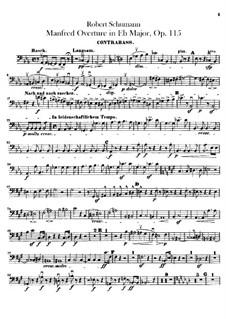 Manfred, Op.115: Overture – double bass part by Robert Schumann