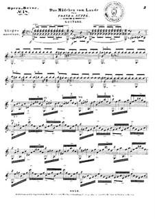 Das Mädchen vom Lande: Selected melodies for guitar by Franz von Suppé