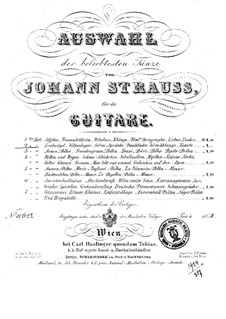 Selection of the most popular dances by Johann Strauss: Book 2 by Josef Strauss