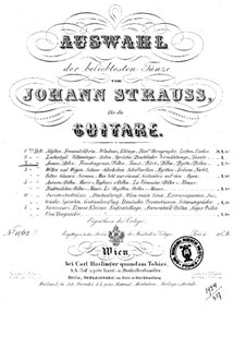 Selection of the most popular dances by Johann Strauss: Book 3 by Josef Strauss