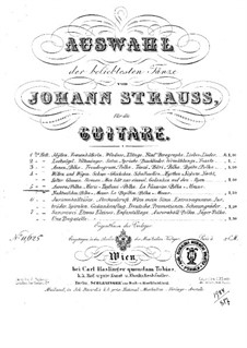 Selection of the most popular dances by Johann Strauss: Book 5 by Josef Strauss