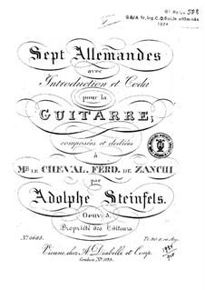 Seven Allemandes, Op.5: Seven Allemandes by Adolphe Steinfels
