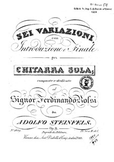 Variations, Op. 9: Variations by Adolphe Steinfels