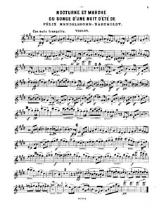 Nocturne and Wedding March: For piano trio – violin part by Felix Mendelssohn-Bartholdy