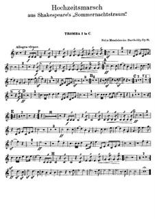 Wedding March: Trumpets in C parts by Felix Mendelssohn-Bartholdy