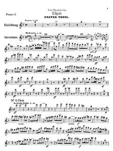 Elijah, Op.70: Flutes parts by Felix Mendelssohn-Bartholdy