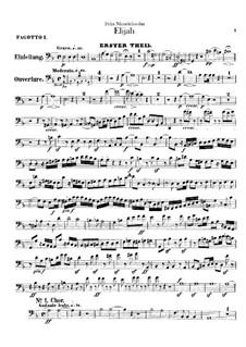 Elijah, Op.70: Bassoons parts by Felix Mendelssohn-Bartholdy