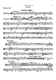 Elijah, Op.70: Trombones and ophicleide parts by Felix Mendelssohn-Bartholdy
