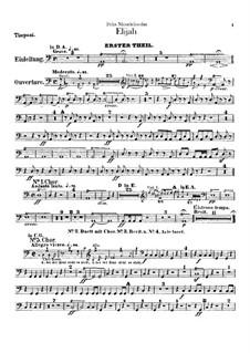 Elijah, Op.70: Timpani part by Felix Mendelssohn-Bartholdy