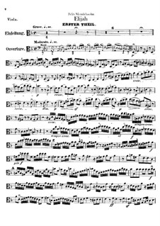 Elijah, Op.70: Viola part by Felix Mendelssohn-Bartholdy