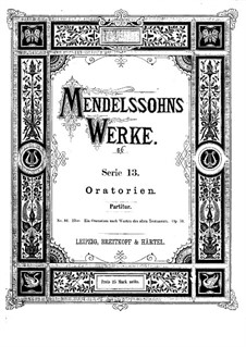 Elijah, Op.70: Full score by Felix Mendelssohn-Bartholdy