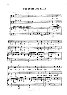 Elijah, Op.70: Duet 'Lord, Bow Thine Ear', for Voices and Piano by Felix Mendelssohn-Bartholdy