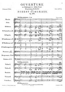 Julius Caesar, Op.128: Full score by Robert Schumann