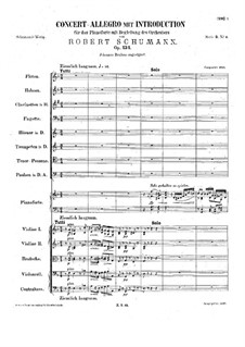 Concert Allegro with Introduction, Op.134: Full score by Robert Schumann