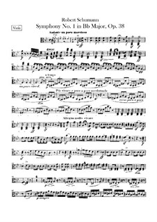 Symphony No.1 in B Flat Major 'Spring', Op.38: Viola part by Robert Schumann