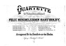 Four Pieces for String Quartet, Op.81: Version for piano four hands by Felix Mendelssohn-Bartholdy