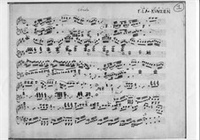 Sonata for Piano: Sonata for Piano by Friedrich Ludwig Aemilius Kunzen