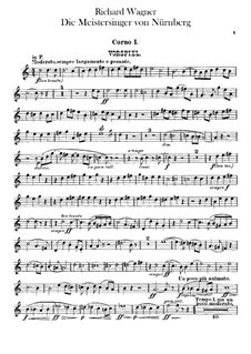 Complete Opera: Horns I, II parts by Richard Wagner