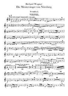 Complete Opera: Trumpets parts by Richard Wagner