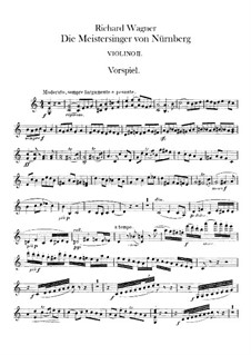 Complete Opera: Violins II part by Richard Wagner