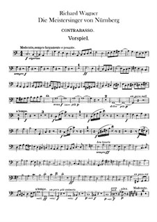 Complete Opera: Double basses part by Richard Wagner