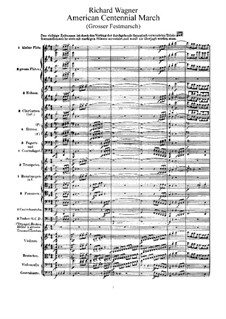 Grand Festival March, WWV 110: Full score by Richard Wagner