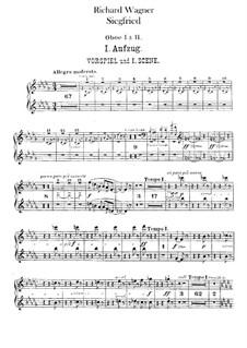 Siegfried (Sigurd), WWV 86c: Oboes I, II parts by Richard Wagner